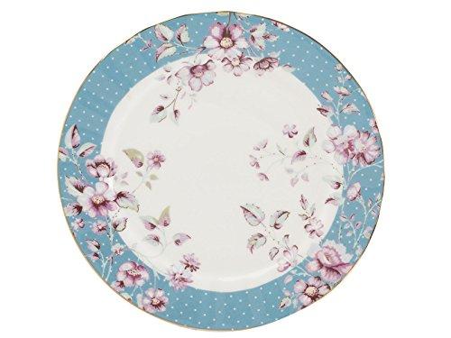 Katie Alice Ditsy - Piatto laterale floreale, in porcellana, 0,5 x 19 x 19 cm