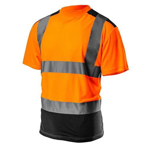 Profi Warnschutz T-Shirt Kurzarm Arbeitsshirt Kurzarmshirt Warnshirt Arbeitshemd orange gelb S-XXL (orange, XL)