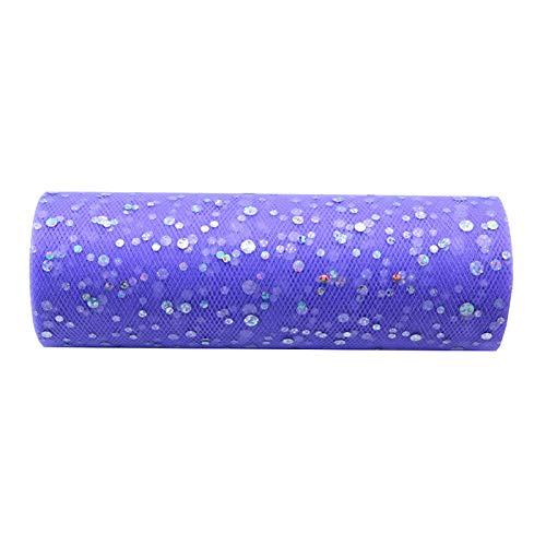 LAMF Rollo de cinta de tul con purpurina, rollo de tul para costura, carrete de tul brillante de 30 pies para falda de mesa y decoración de boda (muchos colores disponibles)