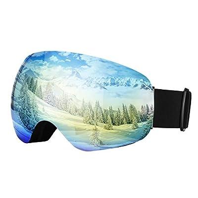 OMORC Ski Goggles, Snowboard Goggles with UV Protection, Anti-Fog & OTG Design