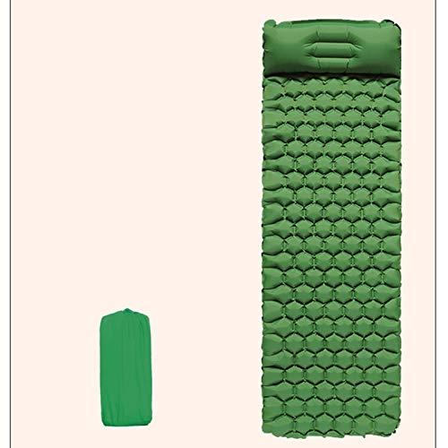 PrittUHU Colchón Inflable al Aire Libre Camping Almohadilla para Dormir con Almohada Tienda a Prueba de Humedad Estera para Dormir Cama de Aire Senderismo Viaje Viaje Mat (Color : Grenn)