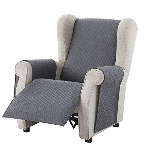textil-home Salvadivano Copripoltrona Trapuntato Adele - 1 posti - REVESIBLE. Colore Grey