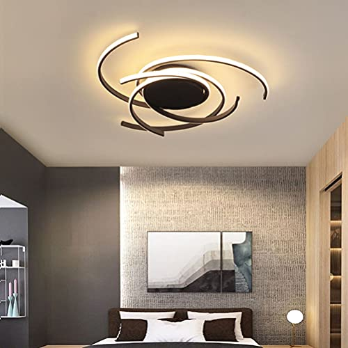 Lámpara LED de techo para salón, regulable, diseño moderno, líneas de techo, 60 W, 5400 lúmenes, lámpara colgante para decoración de dormitorio, comedor, cocina, baño, estudio, dormitorio