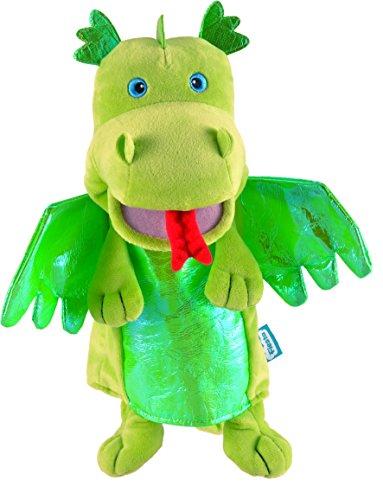 Tellatale- Marioneta dragón verde, Color assorted colours lime green (T-2186) , color/modelo surtido