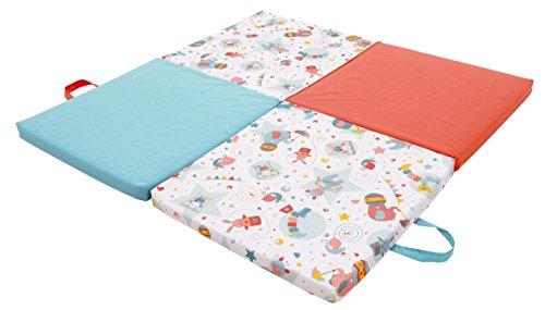 TINEO 604051 Jugar y dormir colchón, 3 en 1 (Circo), color azul y naranja