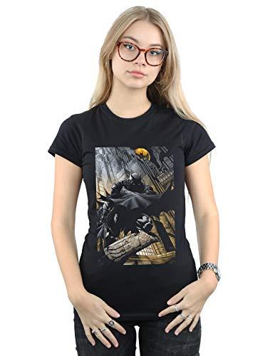 DC Comics Mujer Batman Night Gotham City Camiseta Negro Large