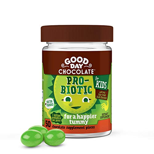 Good Day Chocolate Probiotic Kids Supplement for Digestive Health & Immune Support (50 Count)