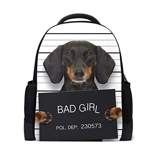 Mnsruu Children Backpack School Bag for for Girls Boys,Dachshund Sausage Dog Casual Rucksack Daypack Laptop Backpacks
