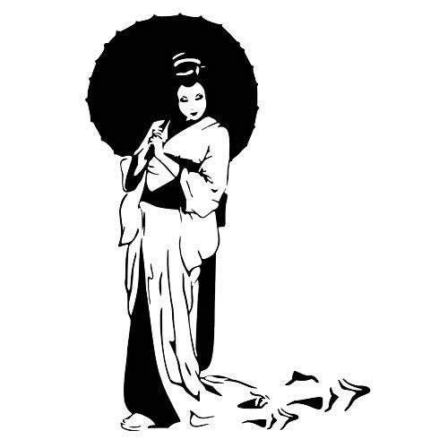 Geisha Regenschirm wiederverwendbare Schablone A3 A4 A5 & größere Größen Orientalische Reise P9, Widerverwendbare PVC-Schablone, A4 size - 210 x 297 mm, 8.3 x 11.7 in