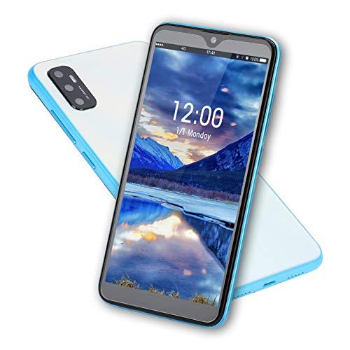 Goshyda Teléfono Inteligente Desbloqueado, 3 + 32G 8MP + 13MP Pantalla de 6,7 Pulgadas Teléfono móvil de Doble Modo de Espera con Huella Digital/función de desbloqueo Facial y batería de 4000 Mah(EU)