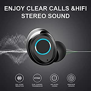 Wireless Earbuds, Sudugo Bluetooth Headphones Sports Bluetooth Earbuds with Deep Bass, Wireless Earphones in-Ear with Microphone USB-C Charging, IPX7 Waterproof Noise Cancelling Earbuds for Running