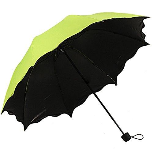 Honeystore Blossom Magic Compact Umbrella Triple Folding Anti-uv Dome Parasol Kelly