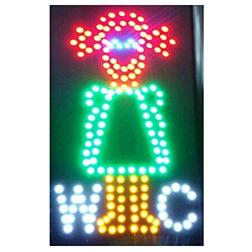 CHENXI Quadratischen-LED-WC Wash Neon Offener Beleuchtete, Ultra Hell Blinkende 48x 48cm Innen von Männern Frauen Toilette Wash Zimmer Modern 48 X 25CM B
