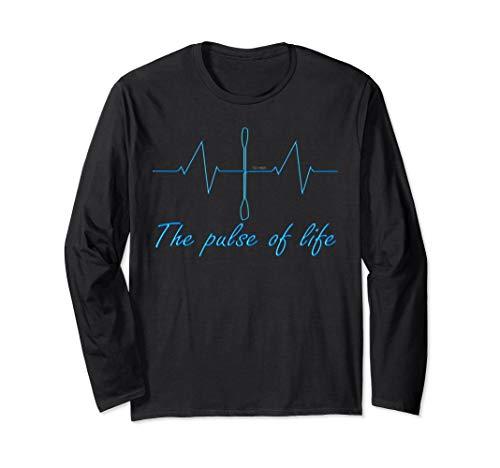 Kanu, Kajak, Kanadier und Paddeln, Pulse T-Shirt. Kayak. Langarmshirt