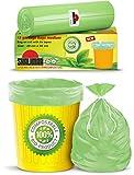 Shalimar Compostable/Biodegradable /Eco Friendly Garbage Bag 19 x 21 Inches (Medium) 45 Bags (3 Rolls) Dustbin Bag/Trash Bag - Green Color
