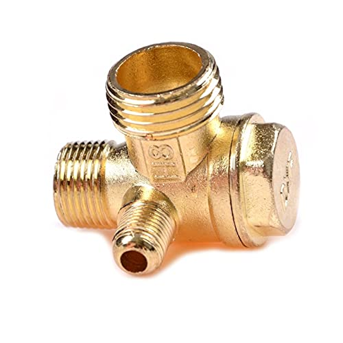 ZHANGJIAN 3 Port Brass Central Pneumatic Valves Air Compressor Check Valve Thread 90 Degree DIY Home Tools strong