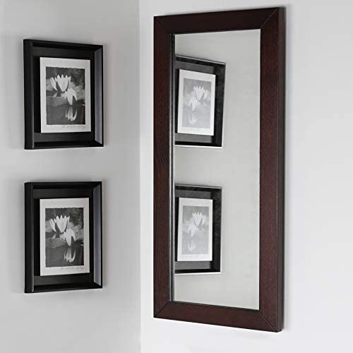 Lowest price challenge Wall-mount mirror in metal or wooden frame. H: 15