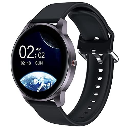 Smartwatch Herren Leadyeah Sportuhr Pulsmesser Aerobic Übung Schrittzähler Gehen Fitness Uhr mit Bluetooth wasserdicht IP68 kompatibel für IOS Android