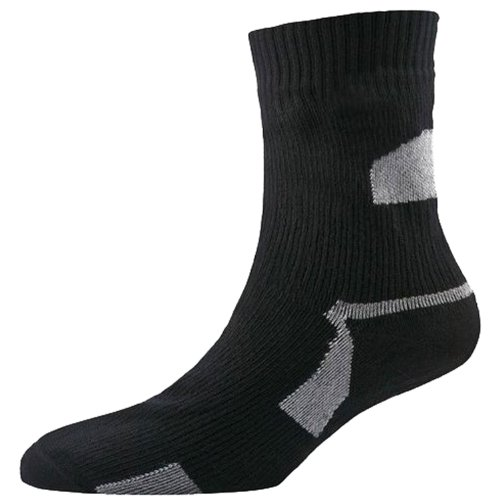 SealSkinz Herren Socken Thin Ankle Length, Black, L