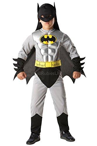 Rubies 3881823-Disfraz Infantil de Batman Metallic Deluxe