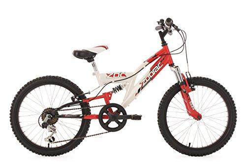 """KS Cycling Kinderfahrrad Mountainbike Fully 20"""" Zodiac rot-weiß RH 31 cm"""