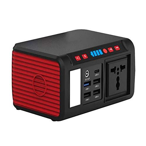 Generador de energía portátil, con Salida de CA de 80 W, energía de batería de Litio de la estación de energía Solar, linternas LED de Carga inalámbrica para Acampar en Casas rodantes de Vacaciones
