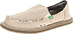 """The Sanük™ staple receives the feminine treatment with the delightful Donna! """"They're not shoes—they're sandals!"""" Distressed canvas upper creates some kickback, casual style. Herringbone texture keeps it fresh and goes with everything. Cushy sandal f..."""