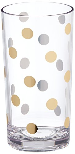 kate spade new york Acrylic Highball Set, Gold Dots