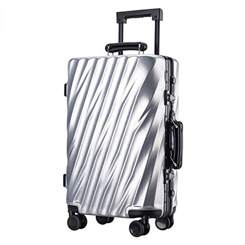 Box ABS + PC Trolley Case Student Password Box Universal Rad Koffer 20,24 Zoll Box, silber (Silber) - ngsen