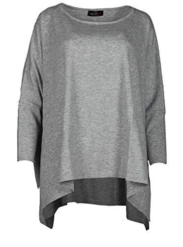 Zwillingsherz Poncho - Hochwertiges Cape Uni Bunte Farben für Frauen Damen Mädchen - XXL Umhängetuch und Tunika - Strick-Pullover - Sweatshirt - Stola für Frühjahr Sommer Herbst und Winter