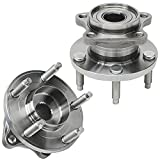 Detroit Axle - AWD Rear Wheel Hub and Bearing Assembly Replacement for 2007-2010 Ford Edge Lincoln MKX - 2pc Set