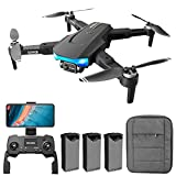 conpoir LS-38 GPS RC Drone con cámara para Adultos RC Drone con cámara 6K EIS Anti-vibración Gimbal Motor sin escobillas 5G WiFi Video aéreo FPV Quadcopter Smart Follow Mode Paquete de Mochila