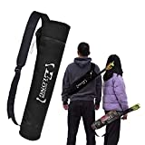 EOUS Archery Arrow Quiver Holder Back Hip Quiver Youth Adults Arrows Bag Recurve Compound Bow Target Practice,Black