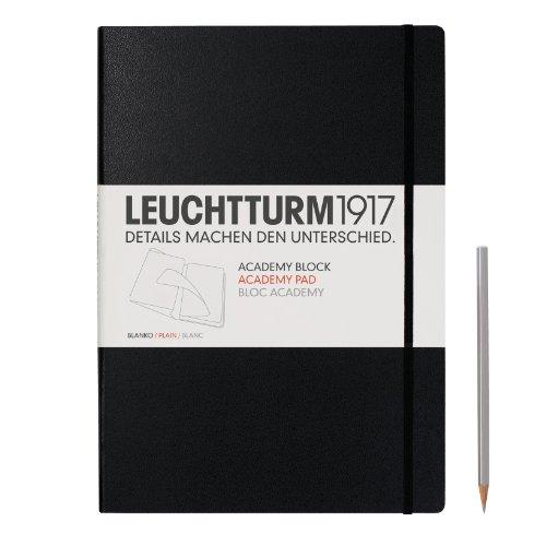 Leuchtturm1917 - Bloc de notas (Din A4, liso), color negro