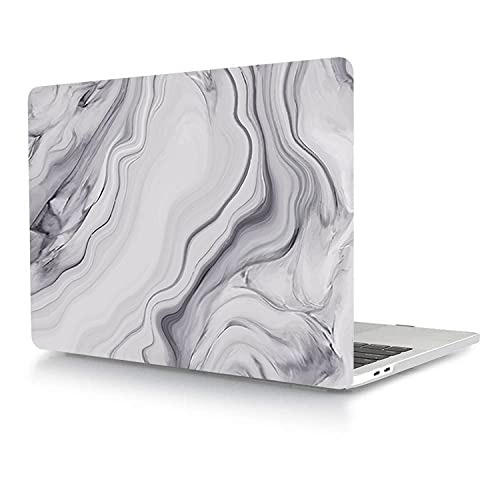 Case compatible with MacBook Pro 15 inch 2019 2018 2017 2016 Release A1990 A1707, Plastic Protective Hard Shell Cover for MacBook Pro 15 with Touch Bar & Touch ID - Gray Marble