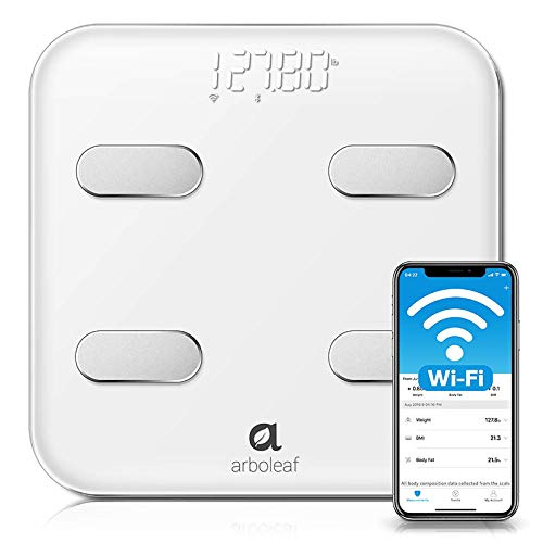 Arboleaf Smart Scale - Wi-Fi & Bluetooth Weight Scale, 14 Body Composition Monitor with iOS Android APP, Wireless Cloud-Storage for Unlimited Data & 8 Users, BMR BMI Scales Digital Weight and Body Fat