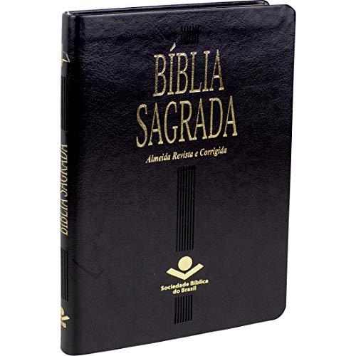 Bíblia Sagrada Almeida Revista e Corrigida - Capa couro sintético preta: Almeida Revista e Corrigida (ARC)