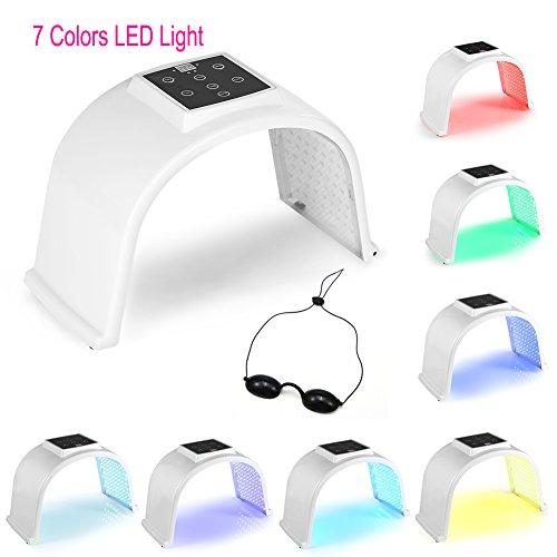 7 Colores LED Lampara Aparato Cabina Equipo Para El Cuidado De La Piel Del Cuerpo Facial, Máquina Para El Cuidado De La Piel PDT Fotodinámica Fotorrejuvenecimiento(02)