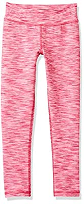 Amazon Essentials Little Girls' Full-Length Active Legging, Pink Spacedye, S by Amazon Essentials