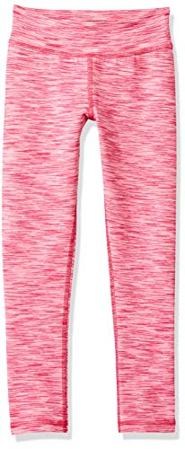 Amazon Essentials Big Girls' Full-Length Active Legging, Pink Spacedye, XXL