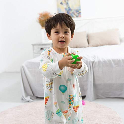 Exquisito saco de dormir para bebé manta usable bolsa de cultivo para bebé de 2.5 tog envoltura envolvente para bebés pequeños de 80-90 cm