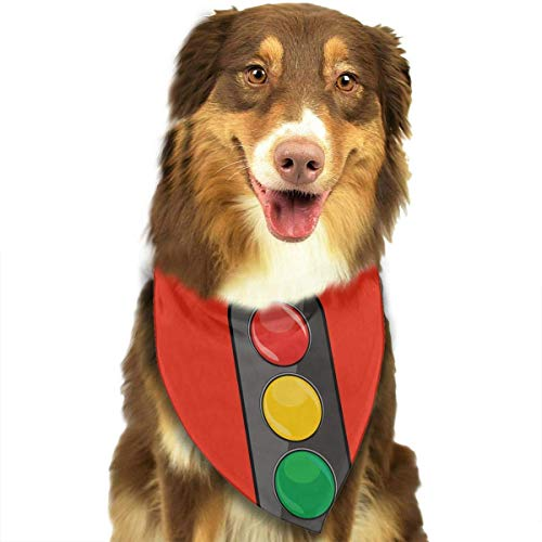 hgdfhfgd Hund Bandana Haustier Schal Ampel Classic Cute Pet Welpe Hund Bandana Schal Lätzchen