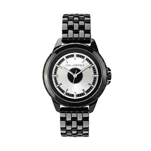 KARL LAGERFELD Women\'s GM Black Color Block Bracelet Damenuhr, 36mm, Quarz - 5552752