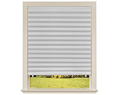"""Original Light Filtering Pleated Paper Shade White, 48"""" x 72"""", 6-Pack"""