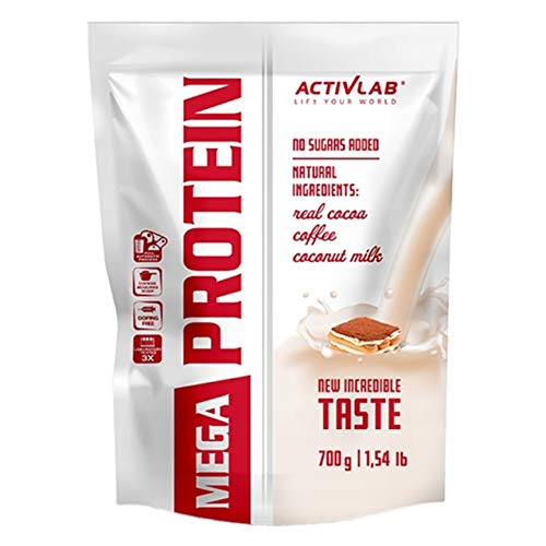 Activlab Mega Whey Protein Concentrate Package of 1 x 700g Creatine Monohydrate- Taurine Muscle Building and Regeneration – Amino Acids - Supplement for Athletes (Tiramisu)