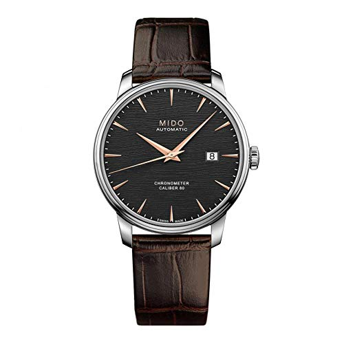 Mido Men's Baroncelli Chronometer Silicon 40mm Leather Band Steel Case Automatic Watch M027.408.16.061.00