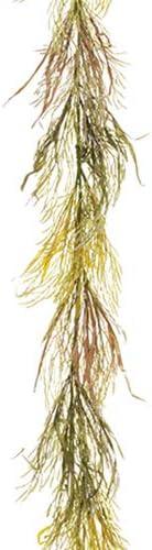 SilksAreForever Classic 5' Artificial Rye Grass Regular store Garland Beige -Green Pa