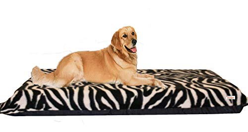 KosiPet 15cm Pocket Spring Orthopedic Dog Bed Mattress with Removable Cover UK (Zebra 150-90)