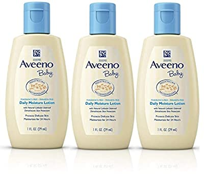 Aveeno Baby Daily Moisture Lotion Travel Size 1 oz (29ml) - Pack of 3 by