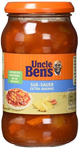 Uncle Ben's Sauce Süß-Sauer und extra Ananas, 6 Gläser (6x 400g)